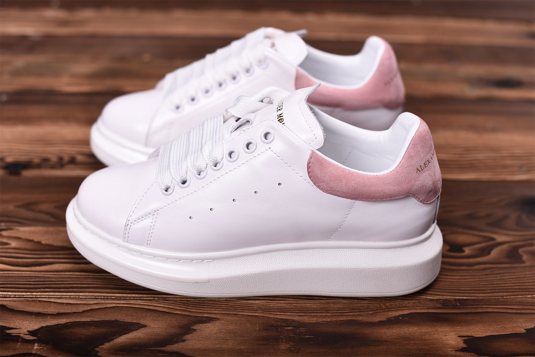 Alexander Mcqueen Oversized Sneaker White Pink Alexander Mcqueen Oversized Sneakers Mcqueen Sneakers Stan Smith Shoes