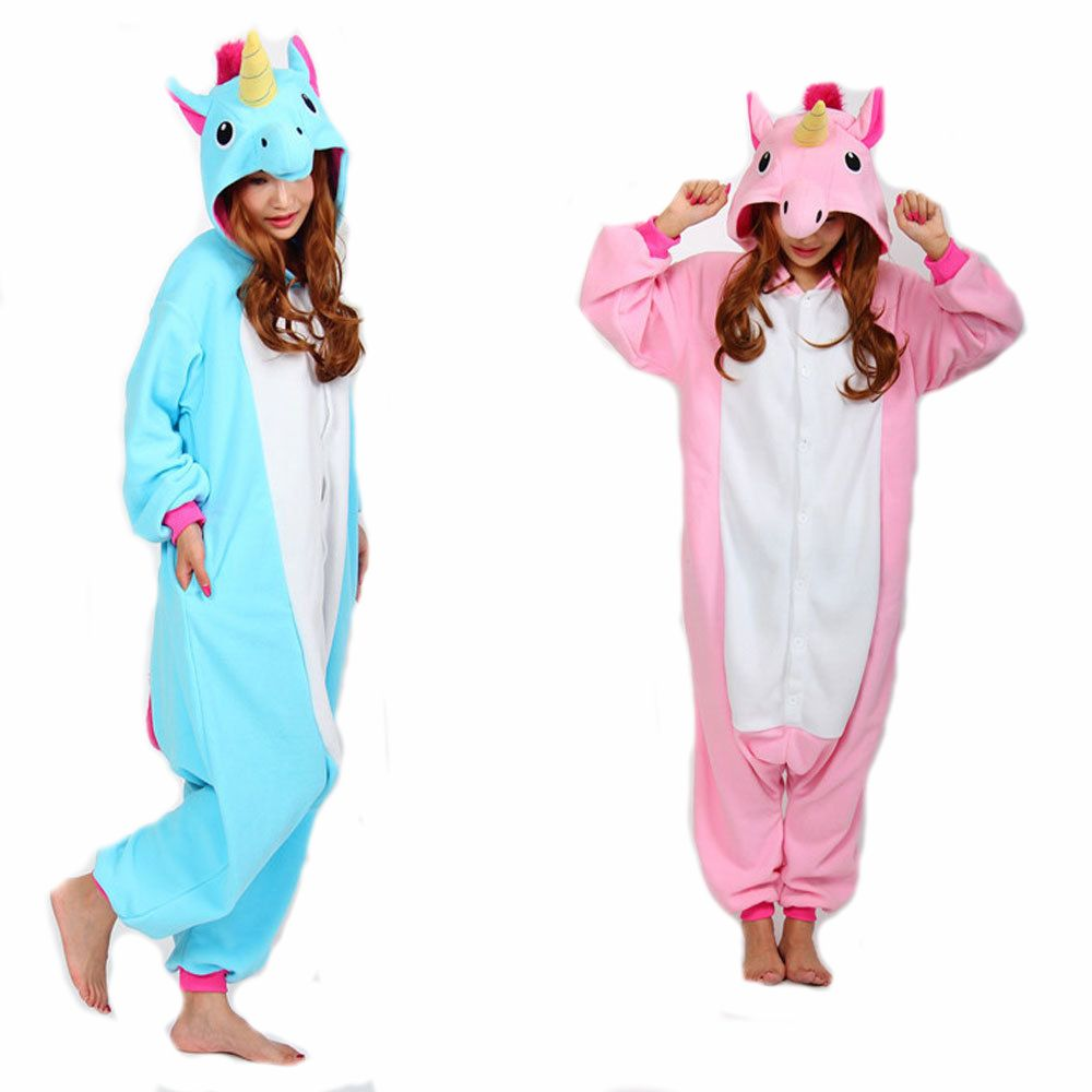 RASMEUP Volwassen Eenhoorn Pyjama Pajama Cosplay Eenhoorn Onesie Eenhoorn Kostuum Animal Pyjama Eenhoorn Onesie Hansop