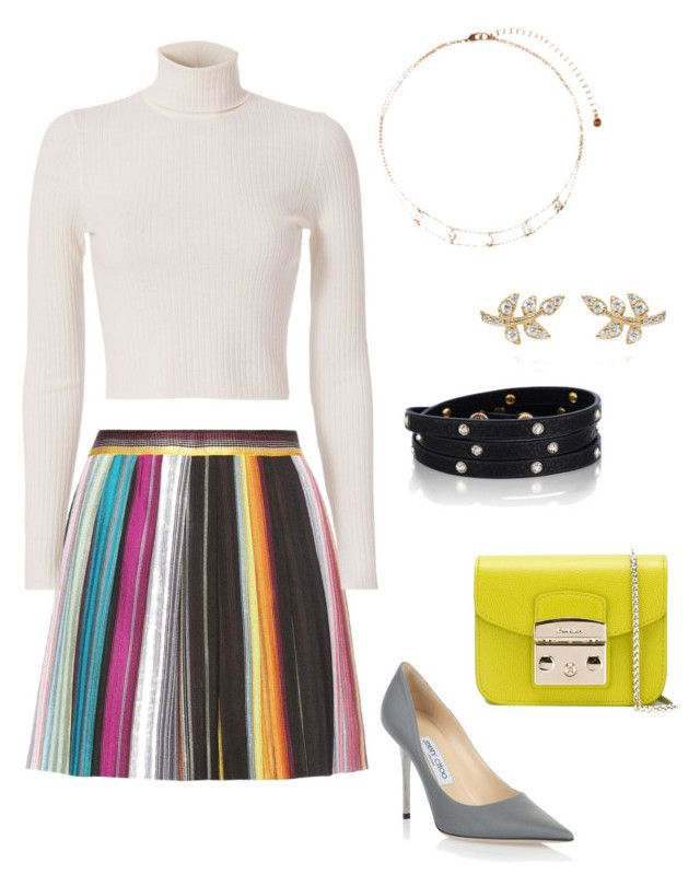 Chic and the City by misspenelopi on Polyvore featuring polyvore, fashion, style, A.L.C., Missoni, Jimmy Choo, Furla, Chloe + Isabel and clothing