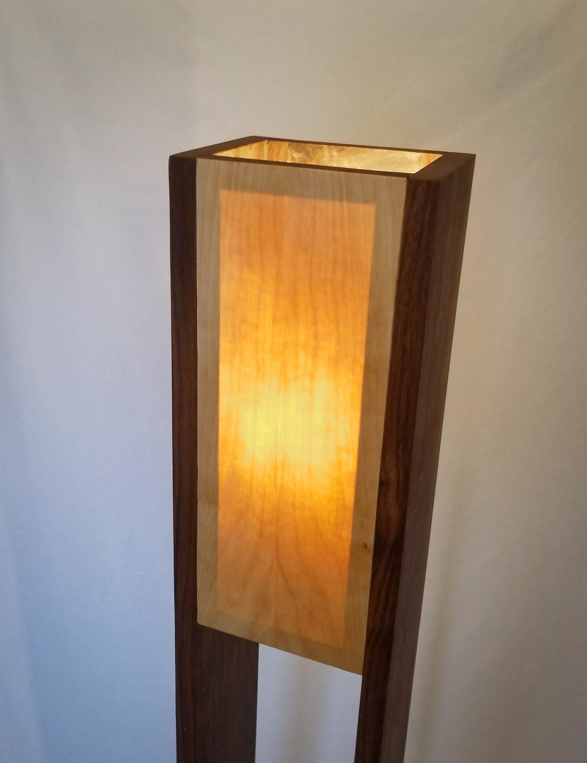Lampadaire Exterieur Fait Maison Walnut Wood Floor Lamp With Concrete Base Free Shipping Canada