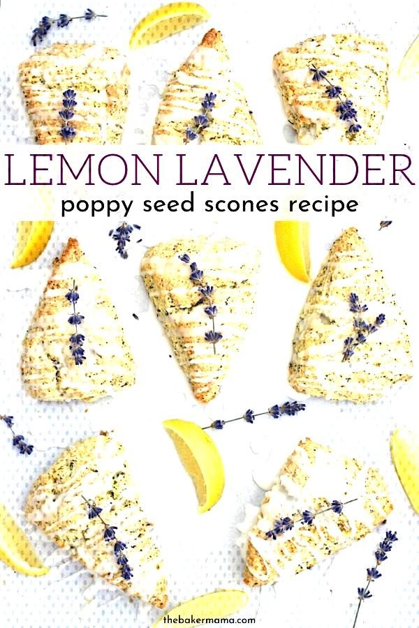 Lemon Lavender Poppy Seed Scones | The BakerMama Lemon Lavender Poppy Seed Scones are a tasty way t