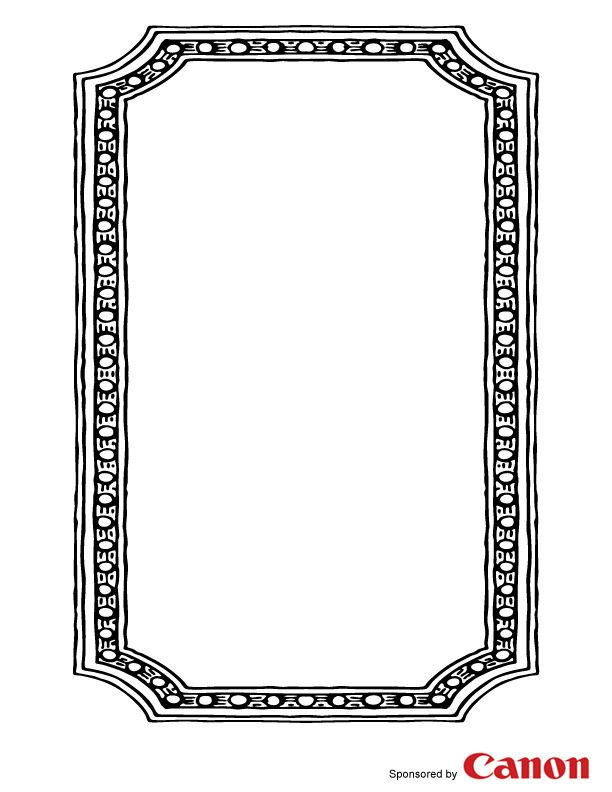 Craft templates for kids Picture Frame 4 paper borders design