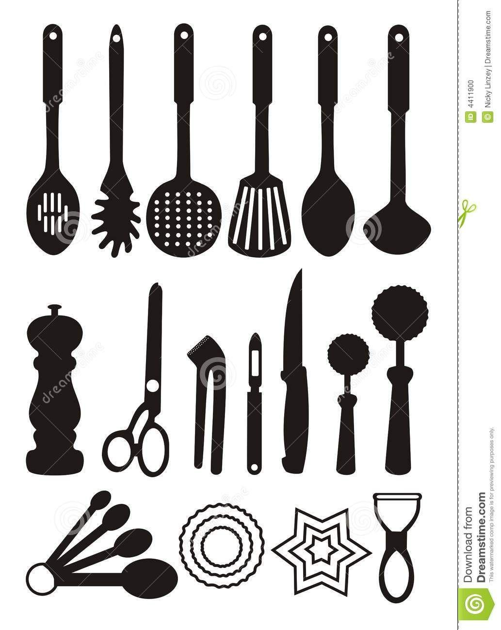 Kitchen Utensils Art kitchen tools clip art - free large images | baby | pinterest