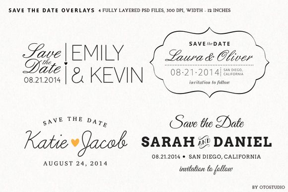Save the Date Overlays - Set 2 | Sovrapposizioni, Creativo e Ricerca