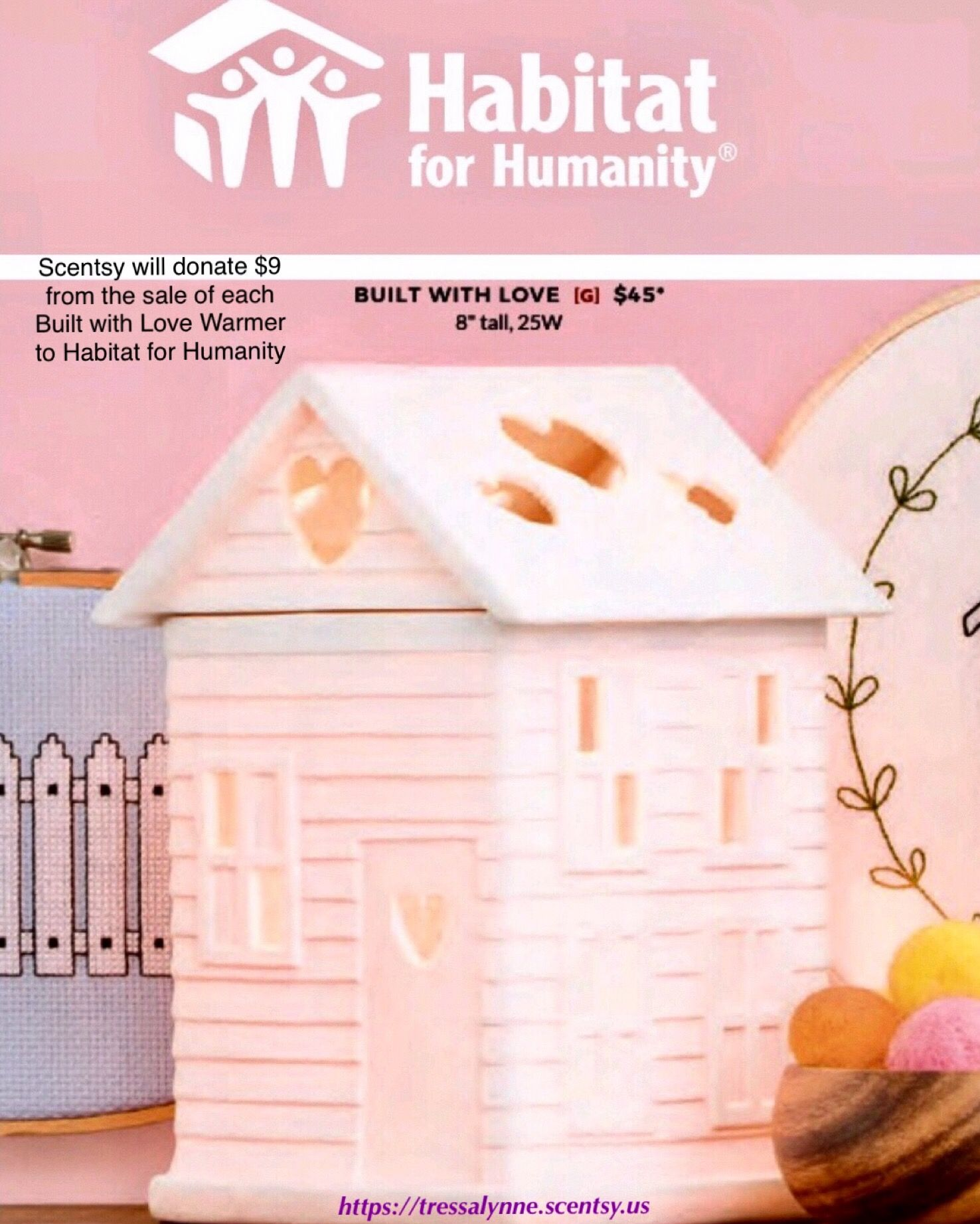 fc6ae15f62 Help us give a family a place to call home. Scentsy will donate  9 from