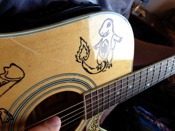 9 Different Ways To Customize Your Own Guitar Acoustic Guitar Art Guitar Custom Acoustic Guitars
