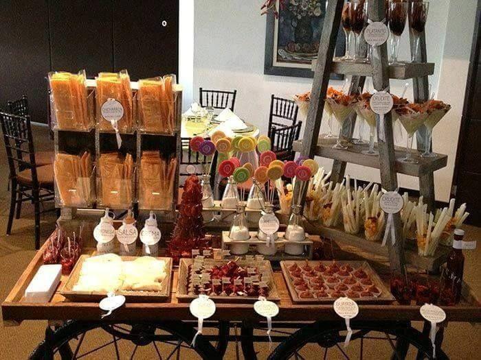 ideas para instalar una mesa salada en tu evento
