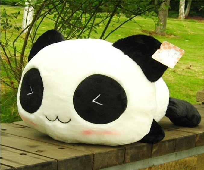 17 7 Quot 45cm Kawaii Plush Stuffed Smiling Lying Panda