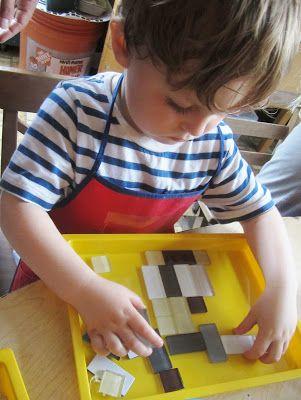 art and soul preschool: Tile Printmaking
