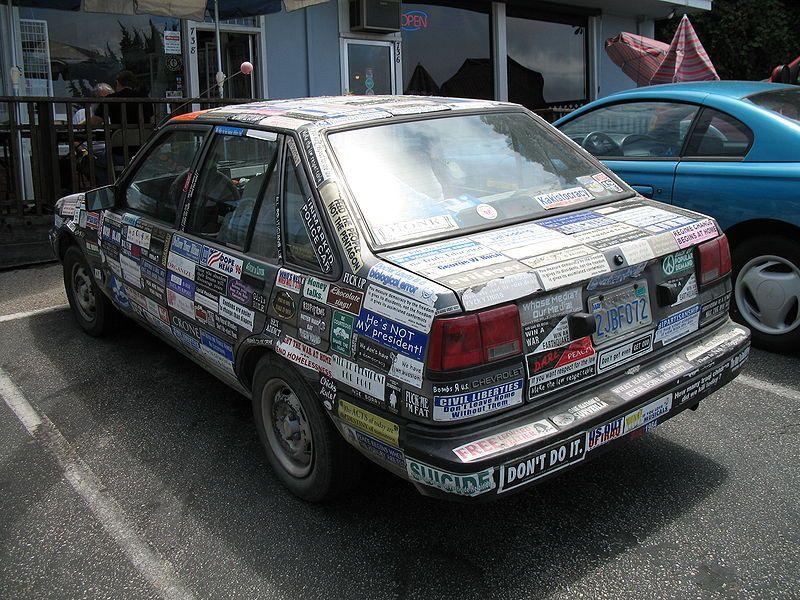 Filebumperstickercarjpg car bumper stickers bumper
