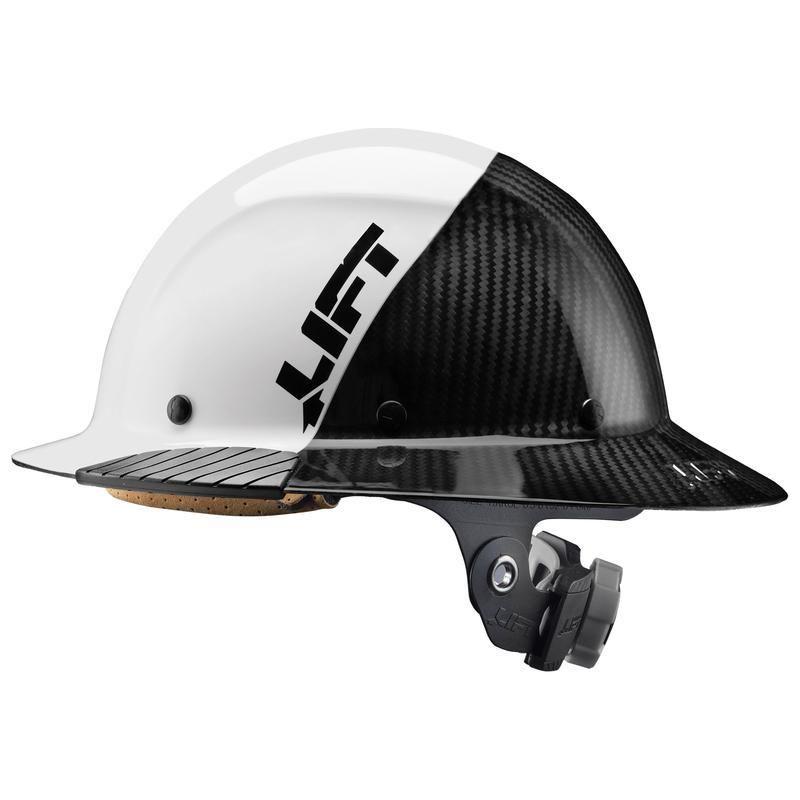 Lift Safety Dax Carbon Fiber 50 50 Full Brim Hard Hat In 2021 Hard Hats Carbon Fiber Cool Bike Helmets