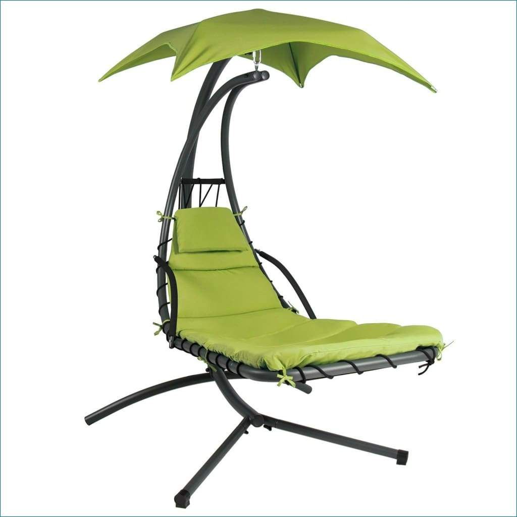 Lime green single person sturdy modern chaise lounger hammock chair
