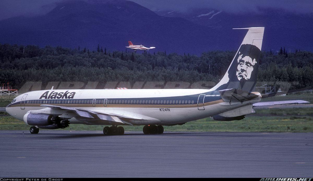 Alaska Airlines Boeing 707321 N724PA c/n 17602 Ted