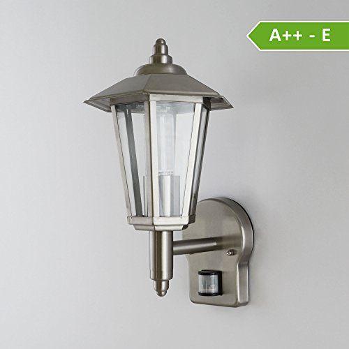aussenleuchte aussenlampe wandlampe wandleuchte edelstahl 601 mit bewegungsmelder 601a1 http. Black Bedroom Furniture Sets. Home Design Ideas
