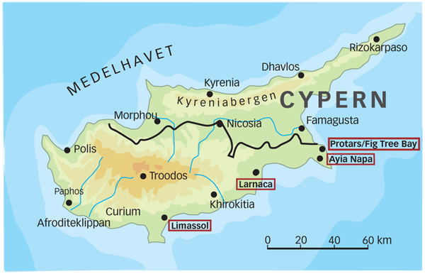 karta cypern fig tree bay cypern pafos stränder   Sök på Google | Travel | Pinterest | Google karta cypern fig tree bay