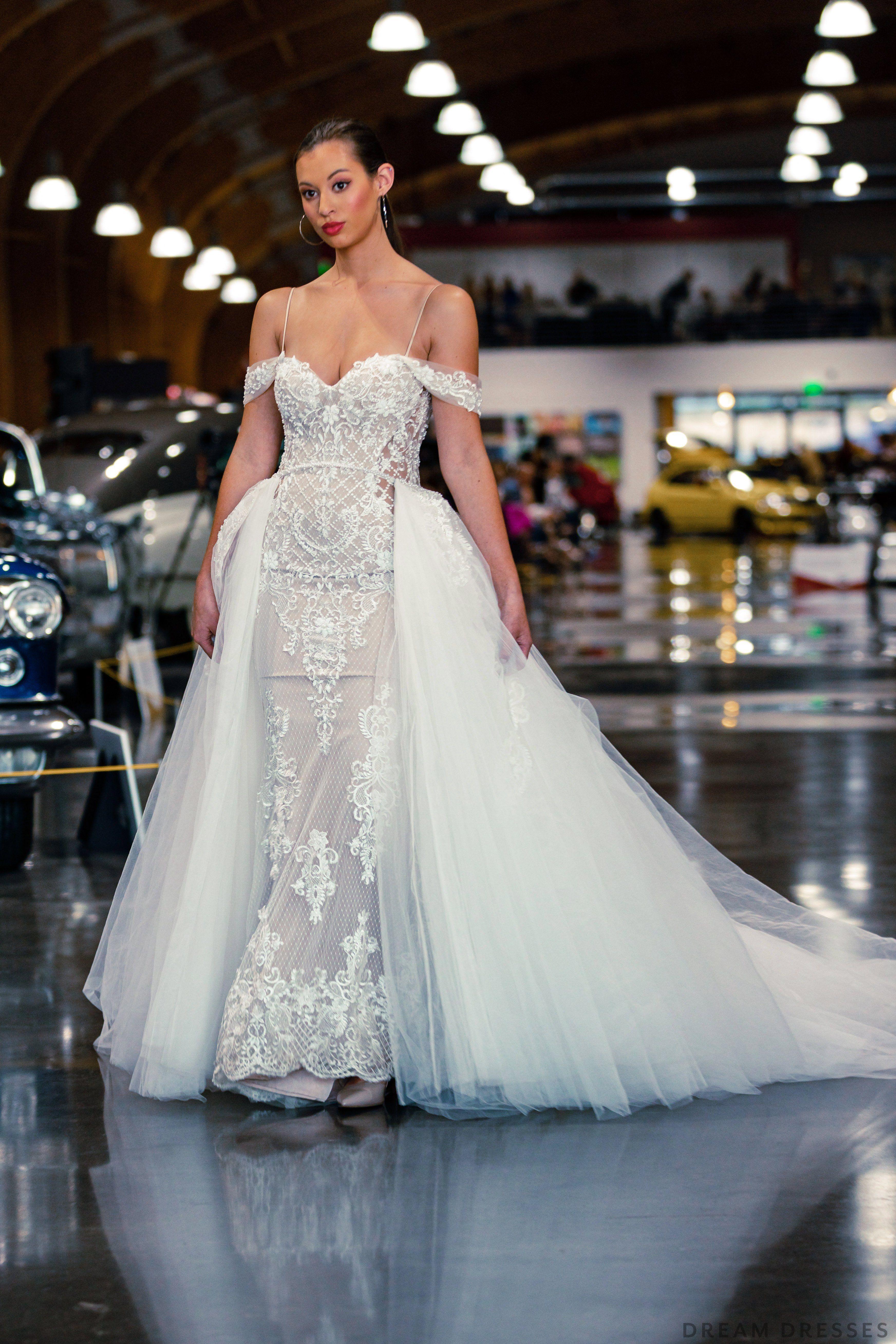 Blush Mermaid Wedding Dress With Removable Overskirt Belva Wedding Dresses Blush Wedding Dresses Unique Wedding Dresses [ 5234 x 3489 Pixel ]