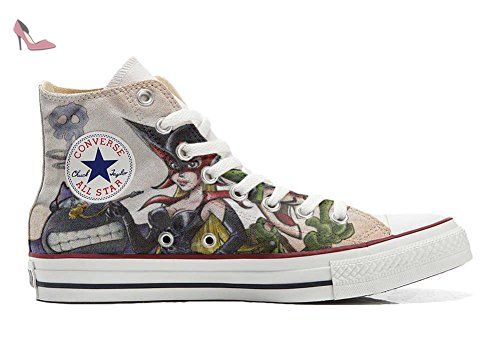 Make Your Shoes Converse Customized Adulte - chaussures coutume (produit artisanal) Black & White Paisley size 34 EU 9rmwR
