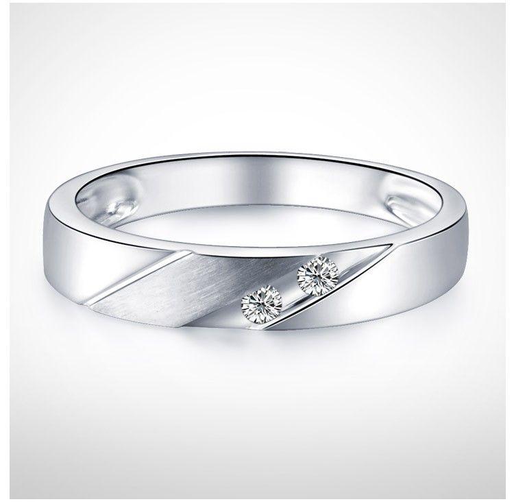 Ring White Gold Men Wedding