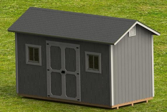 8 x 16 garden shed building plans digital download - Garden Sheds 8 X 16