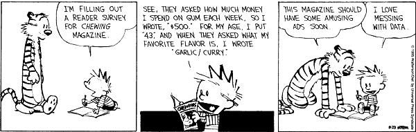 Malicious Data Calvin Hobbs Calvin And Hobbes Calvin And