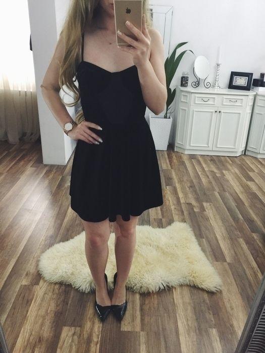 c69e952d Welurowa sukienka topshop S black koronka - vinted.pl | vinted ...