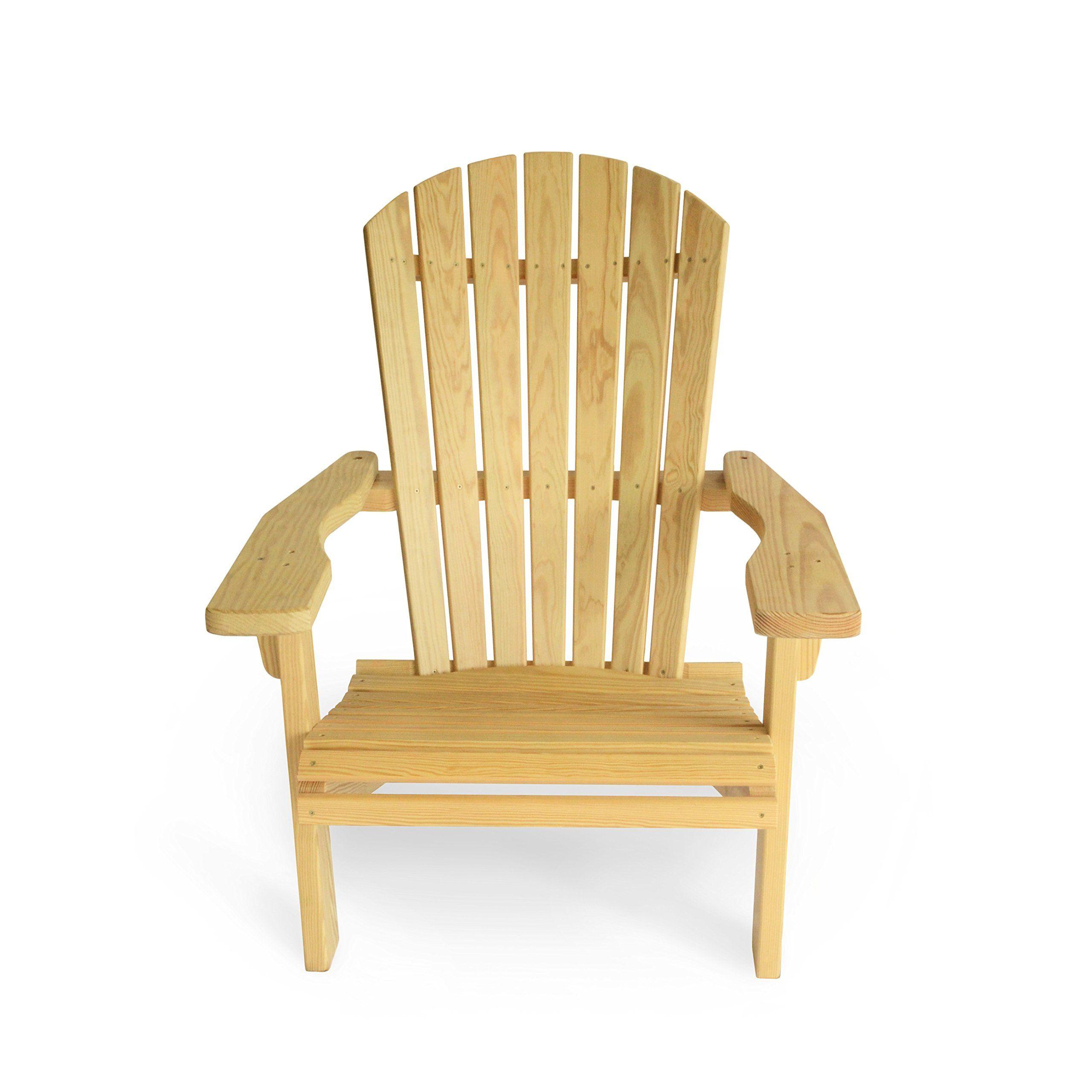 Adirondack chair natural treated pine made of treated pine