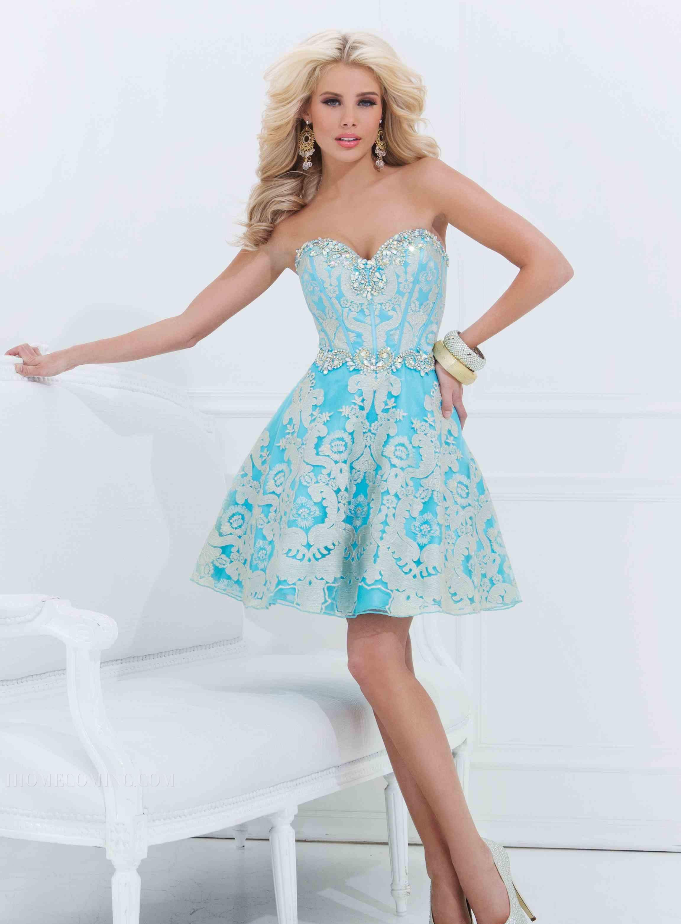 ihomecoming.com SUPPLIES Delicate A-Line Lace Beading Homecoming ...