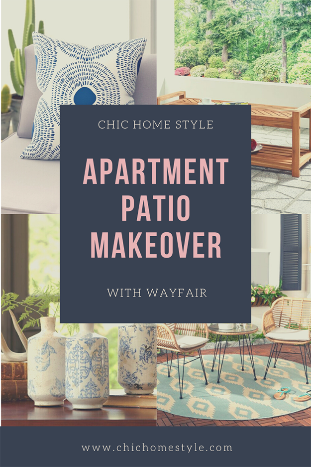 Apartment Patio Makeover With Wayfair Chic Home Styled Parties Patio Makeover Apartment Patio Patio Style Challenge
