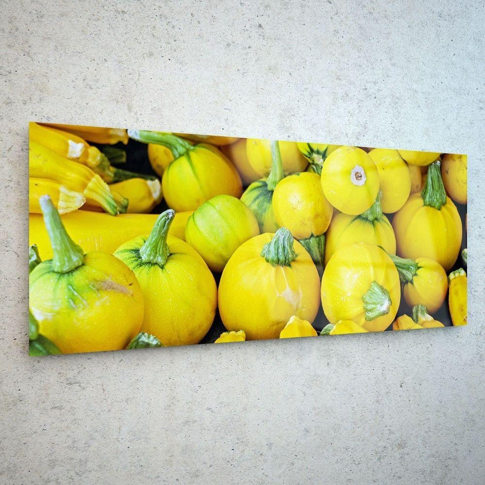 Trendy Design Wall Art Glass Print Market Stall Pumpkins p139394 ...