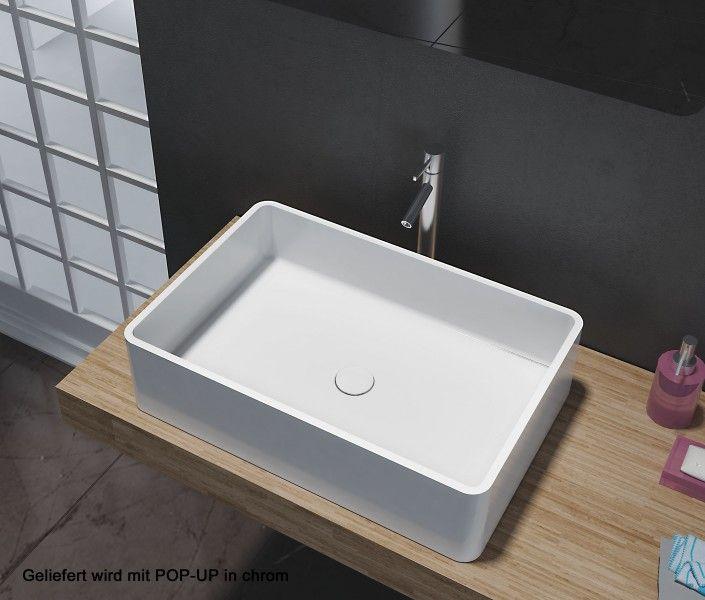 Aufsatzbecken Aufsatz-Waschbecken Rechteck PB2012 - Design - badezimmer 60 cm