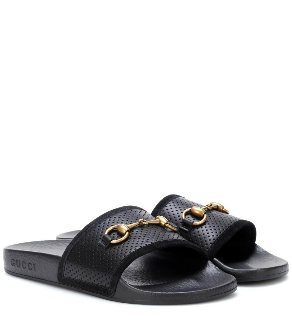 Gucci Horsebit Leather Slides yvuRKl
