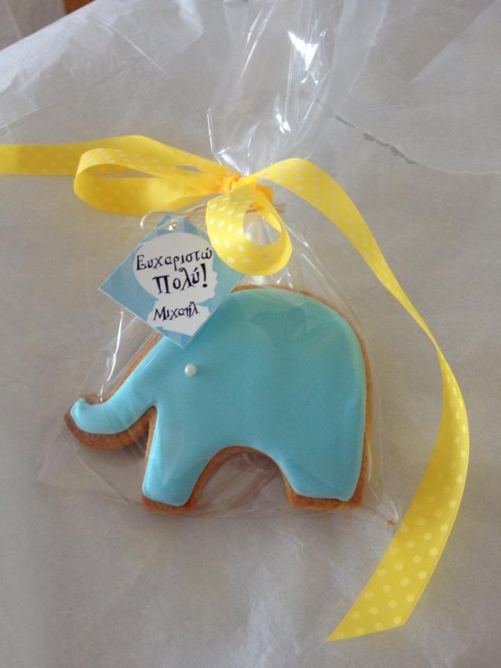 elephant baptism cookie