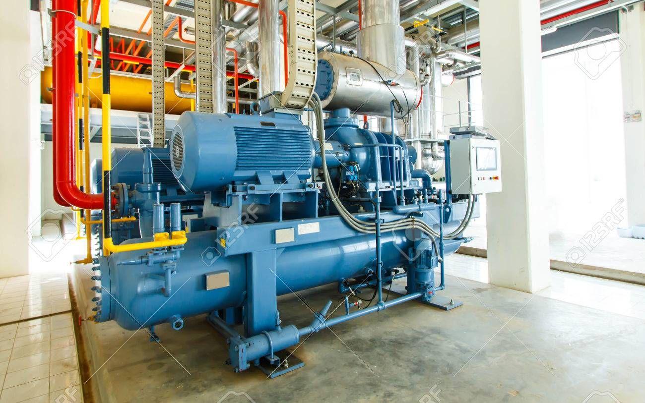 industrial compressor refrigeration station at