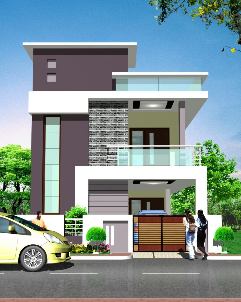 Resultado de imagen elevations of independent houses building elevation house front also best plans images modern two rh pinterest