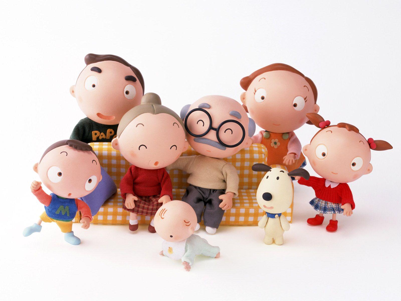 Happy Family Life Cute Cartoon Wallpaper #112492 - Resolution 1600x1200 px