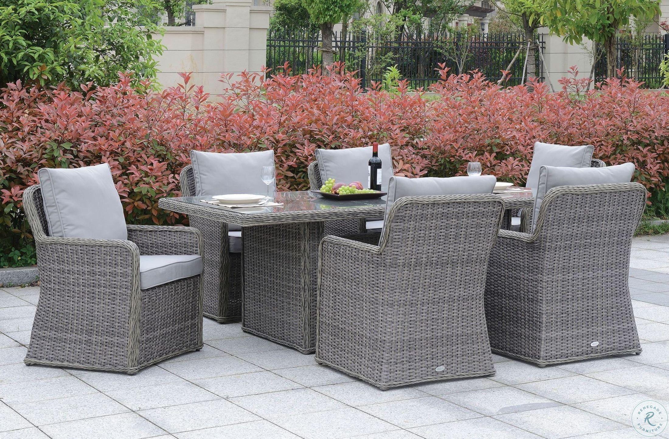 Beachcroft Beige Rectangular Outdoor Dining Set in 2020 ... on Beachcroft Beige Outdoor Living Room Set id=98102