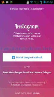 Cara Mendaftar Akun Instagram Lewat Facebook di HP | Instagram ...