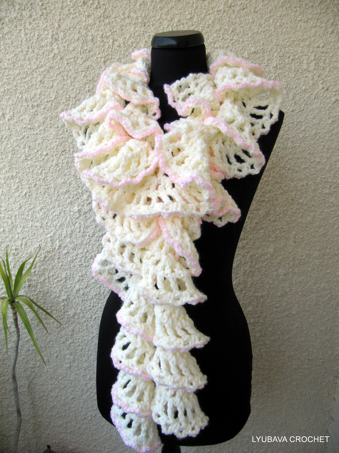Crochet Scarf PATTERN-Chunky Crochet Ruffle Scarf-Winter Honeymoon ...
