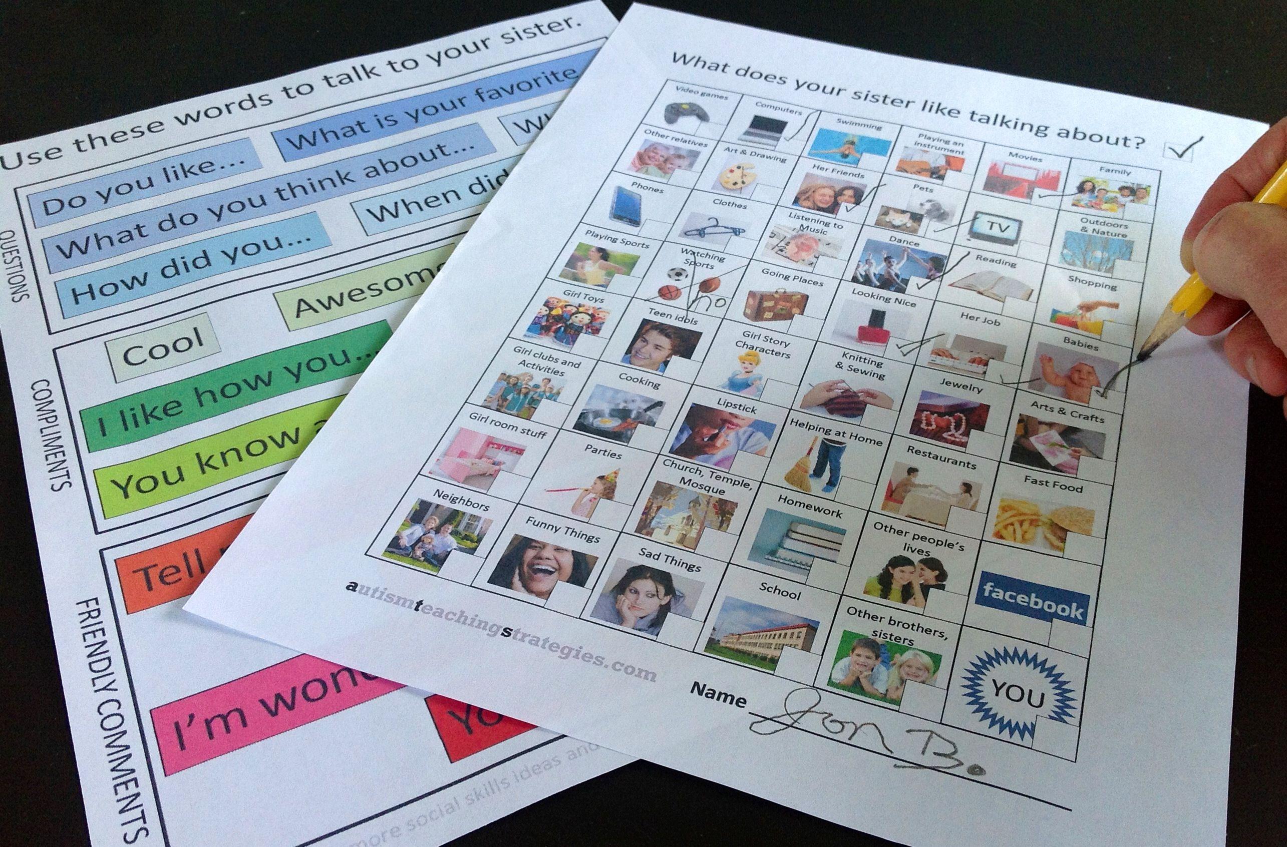 Autism Teaching Strategies Free Social Skills Downloads