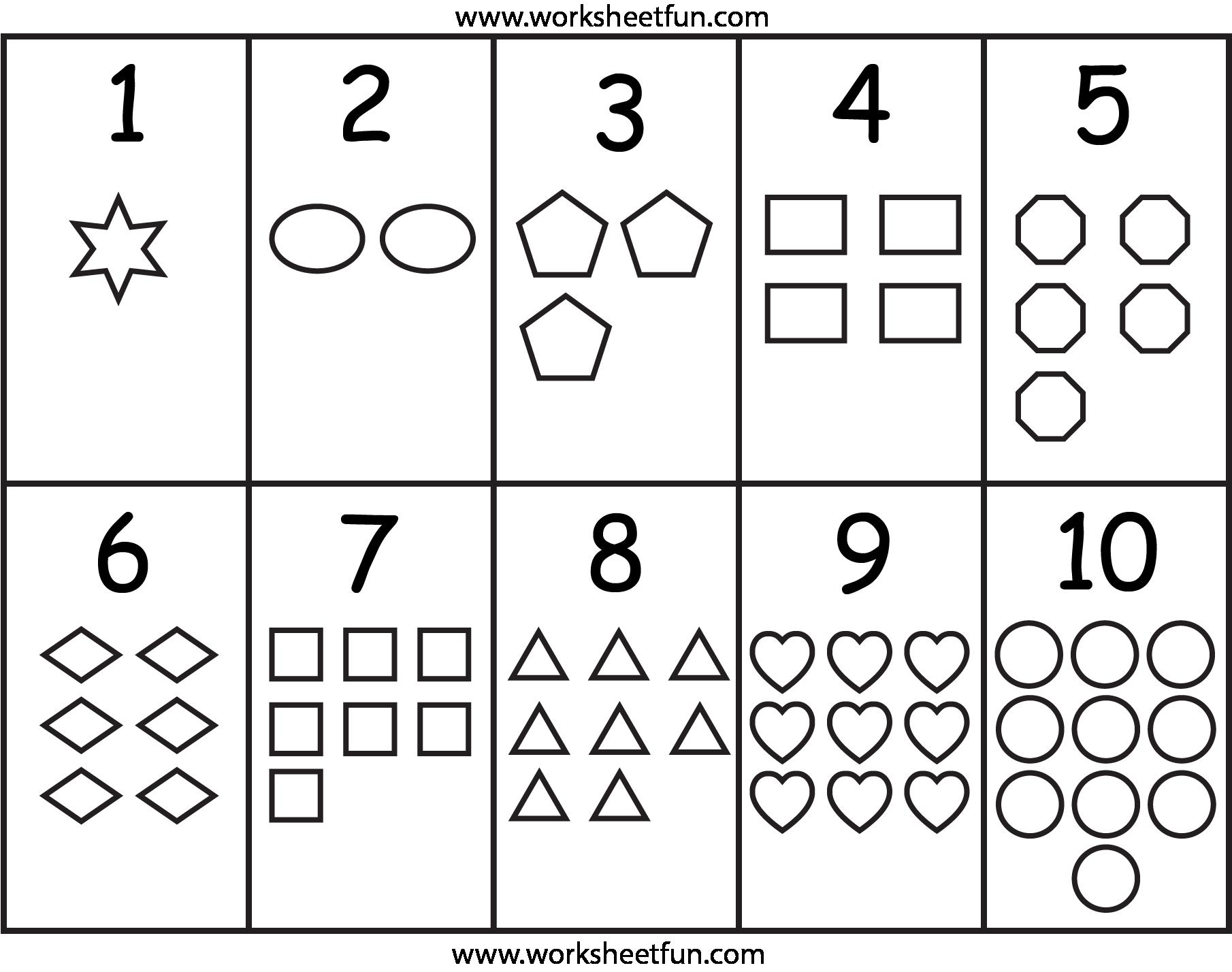 Numbers & Shapes Worksheet