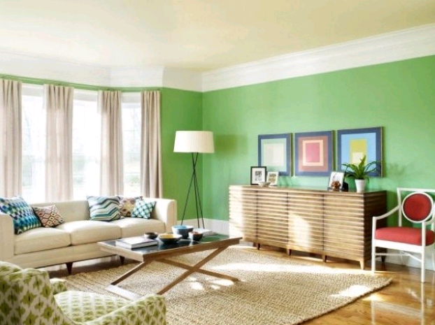 Salotto Moderno Verde : Le pareti verde pastello il colore verde nell arredamento