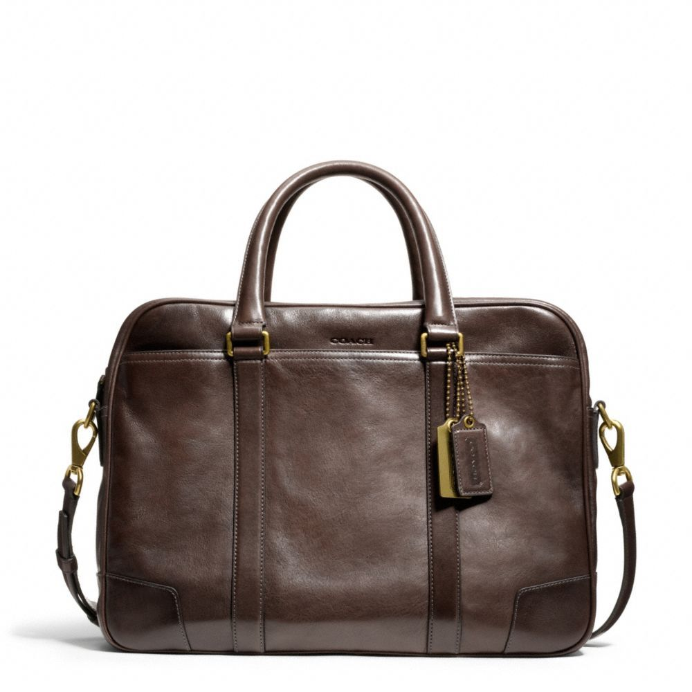 The Bleecker Commuter In Leather from Coach $598
