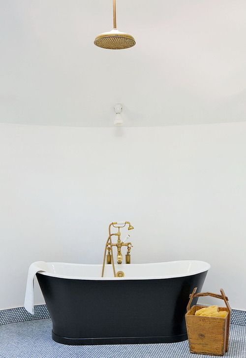 Fantastic Bathroom Features A Ceiling Mount Brass Rain Shower Head