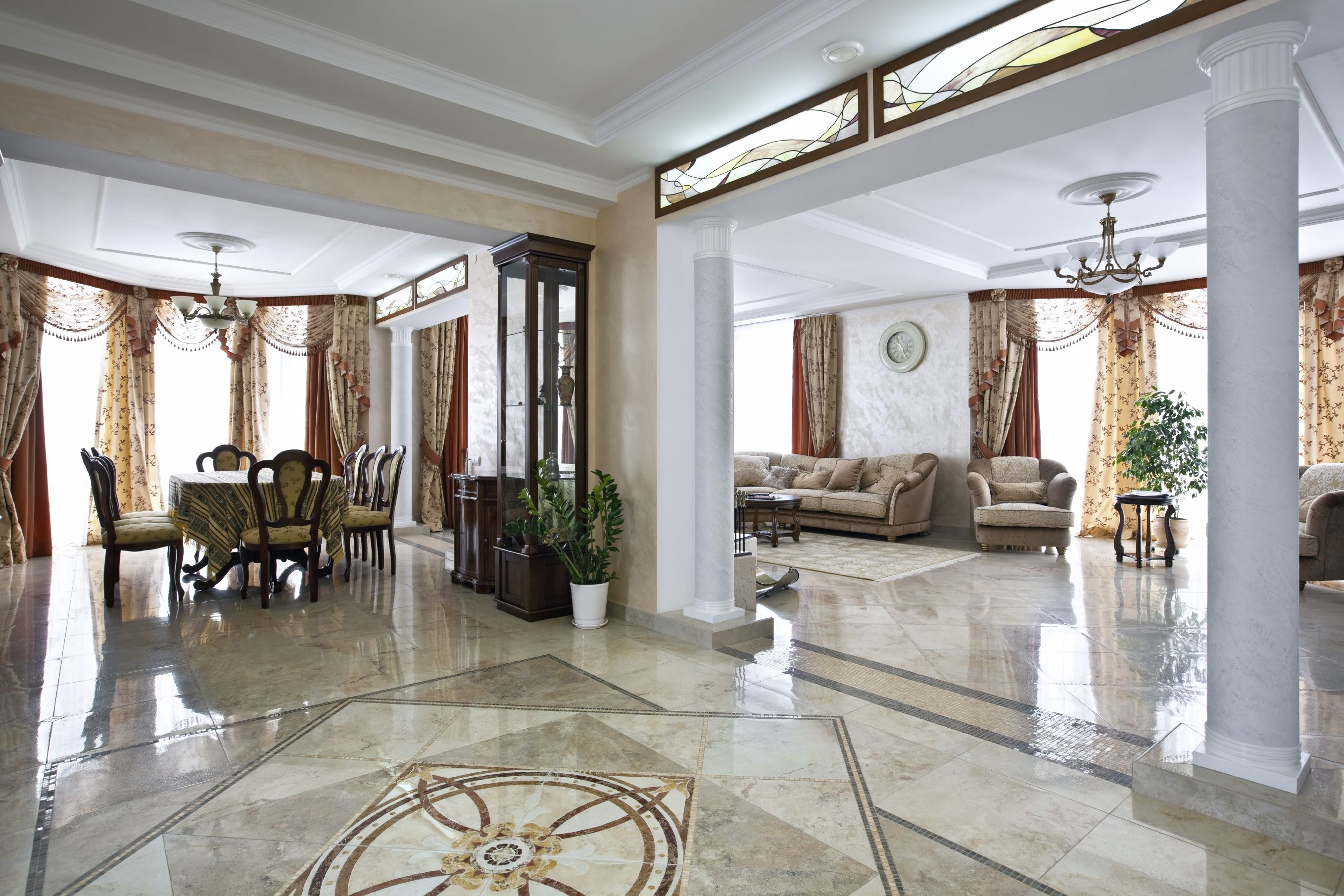 Luxury Home Interior With Marble Floor #marble #floor #interior Endearing Living Room Marble Floor Review