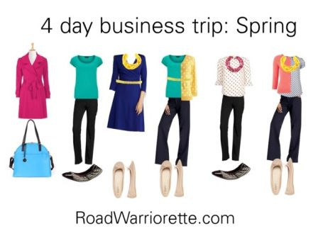 Packing list for a four day business trip Spring Ready to Jet