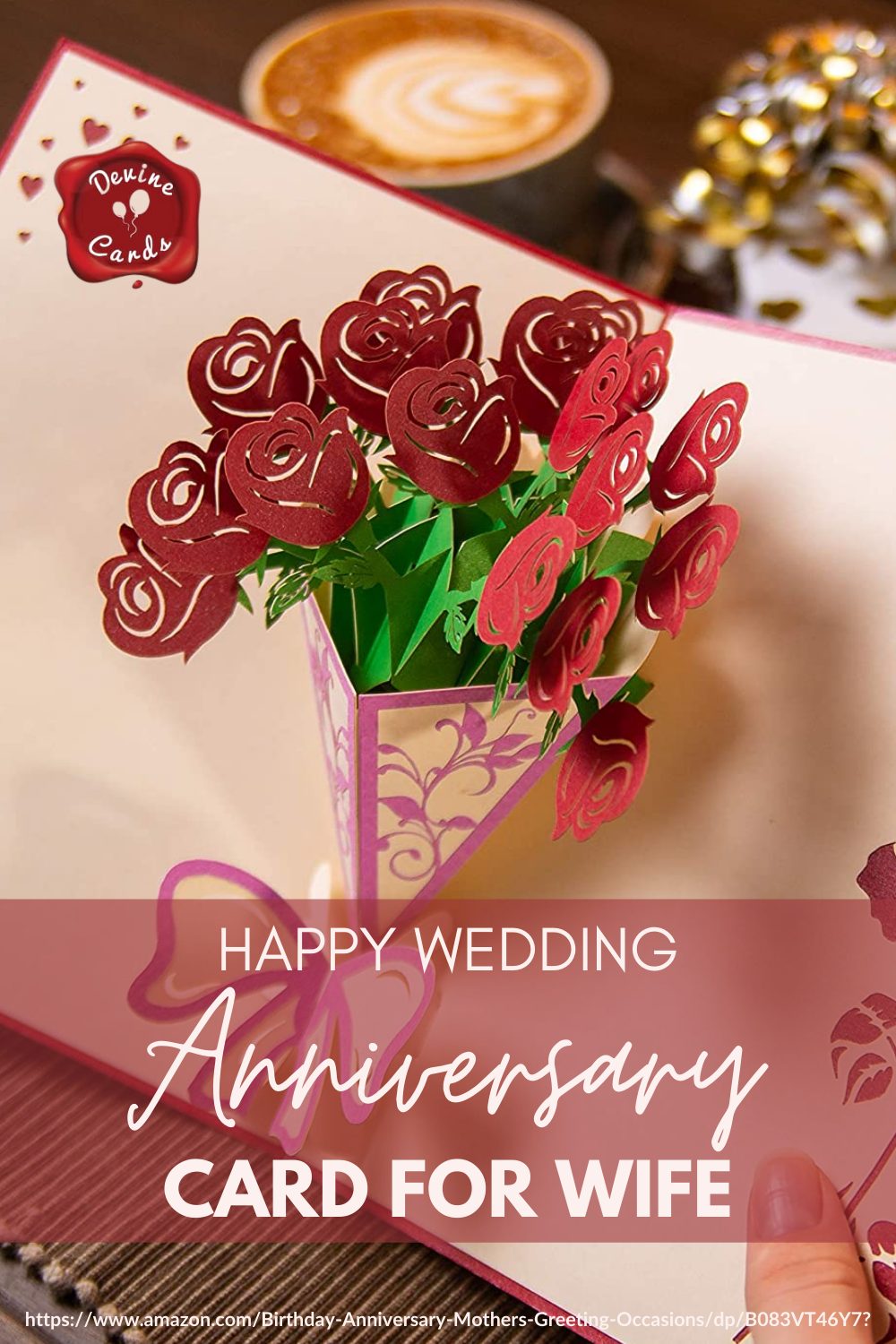 Happy Wedding Anniversary Card For Wife Happy Wedding Anniversary Cards Anniversary Cards For Wife Love Pop Up Cards