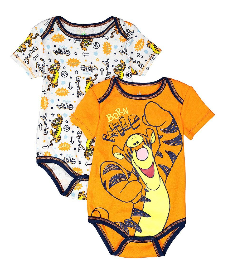 6df662e0d848 Take a look at this Orange & White Tigger Bodysuit Set - Infant today!