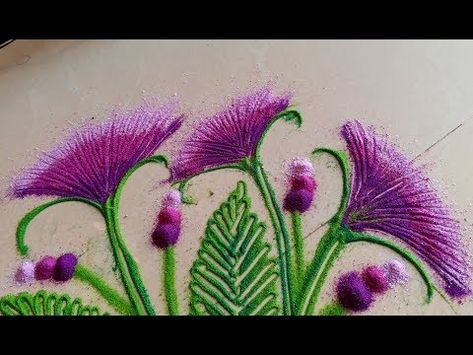 How to draw easy simple nice flower rangoli designs with colours kolam muggulu by maya youtube also rh pinterest