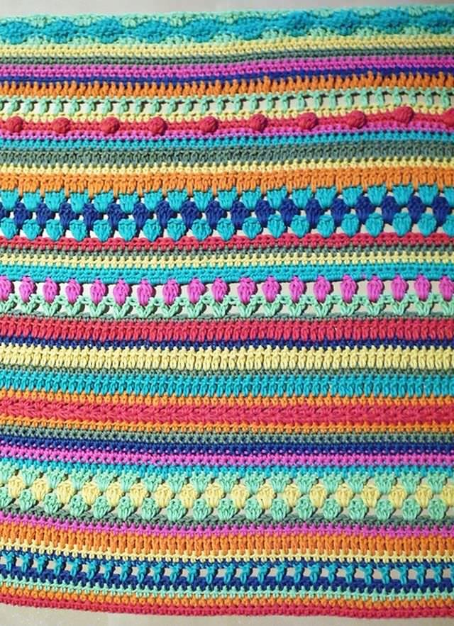 Crochet Along Babydecke größer häkeln in 2018 | Nakış | Pinterest ...