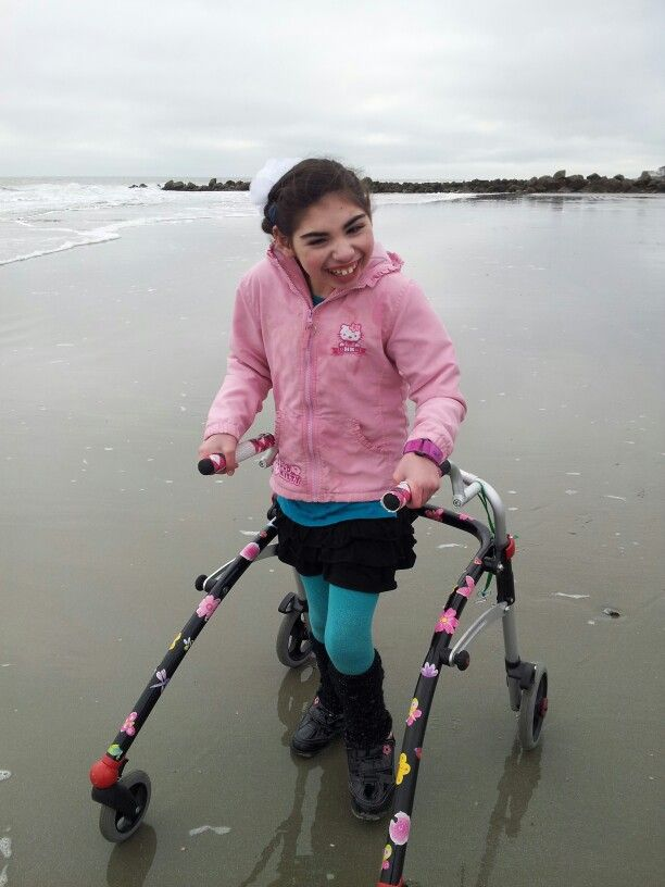 First independent walk on the beach...at ten years old! NEVER, EVER, EVER GIVE UP! THE FACE OF INDEPENDENCE!